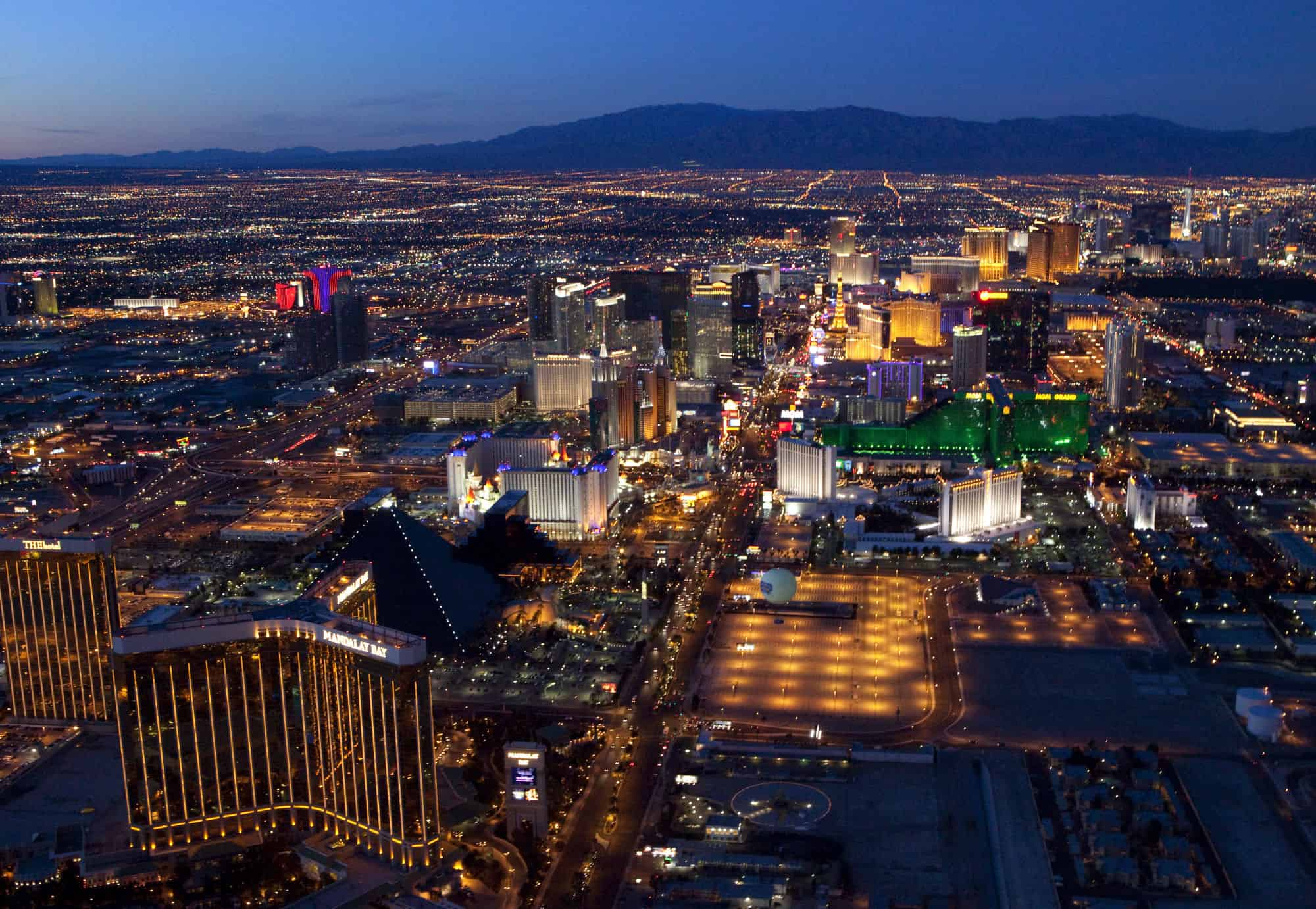 Las Vegas Strip aerials from a helicopter Photo by Brian Jones 2/25/10.